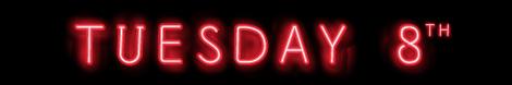 Tuesday 8th